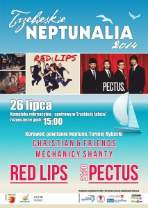 Trzebieskie neptunalia 2014 - internet plakat